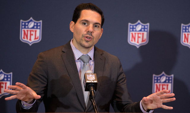 Dean Blandino thinks there will be less defensive holding penalties called in the regular season.