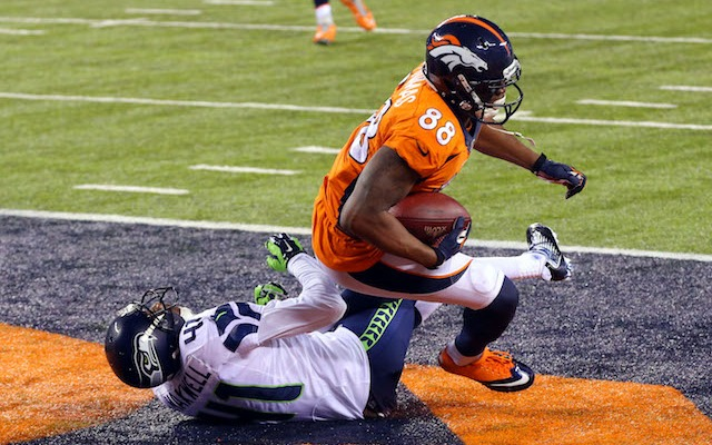 Demaryius Thomas was the only Bronco to reach the end zone on Sunday. (USATSI)