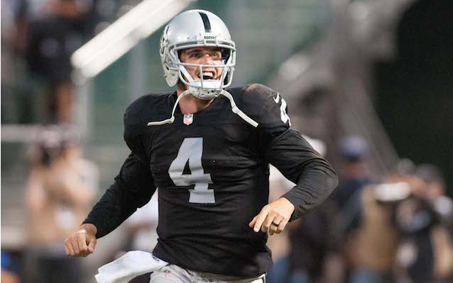 Derek Carr will be the Week 1 starter in Oakland. (USATSI)