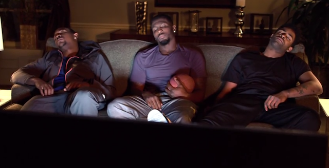 Apparently, Dez Bryant likes to sleep with a football. (YouTube)