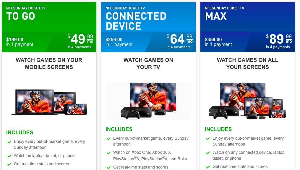 Nfl Sunday Ticket Available To More Viewers Without Directv Subscription Cbssports Com