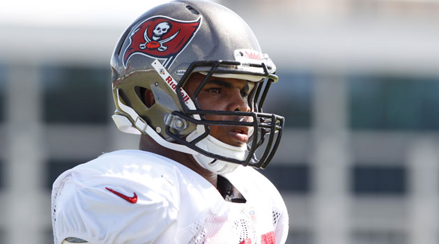 Doug Martin left Friday's game after taking a knee to the helmet.  (USATSI)