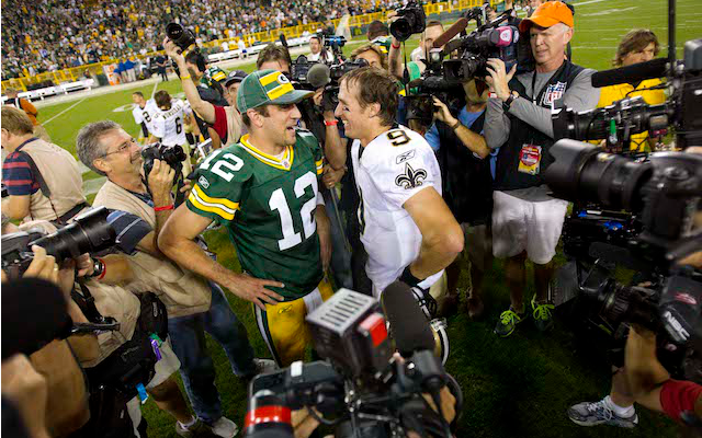 Will Drew Brees and Aaron Rodgers be meeting up in the NFC title game? (USATSI)