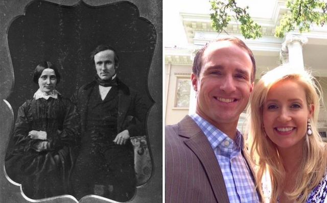 Brittany Brees and Lucy Hayes don't share the resemblance that their husbands share. (Wiki/Twitter)