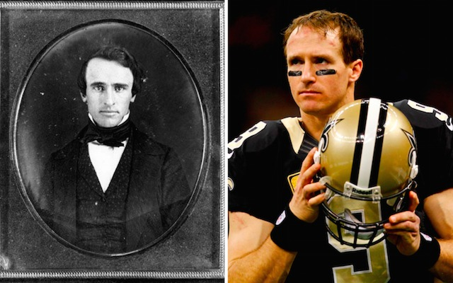One of these people is Drew Brees the other is an ex-president. (Twitter/USATSI)