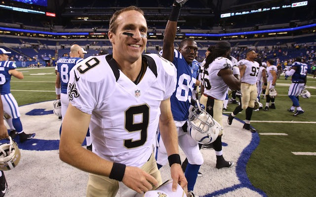 Drew Brees was all smiles after lighting it up in his first preseason action of 2014. (USATSI)
