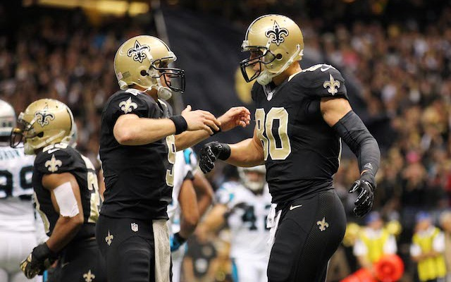 Drew Brees is confident that Jimmy Graham will be sticking around long term. (USATSI)