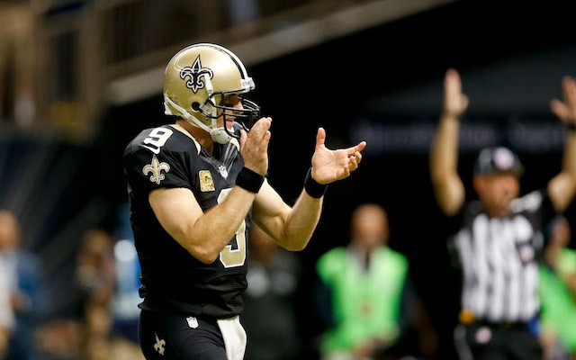 Why's Drew Brees so happy? Because he's in the MVP conversation. (USATSI)