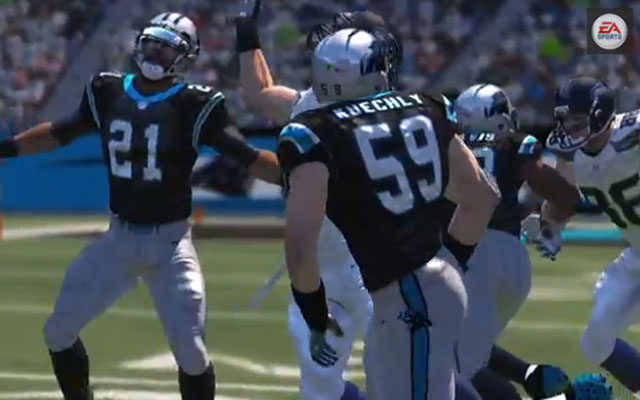 Luke Kuechly is featured in the Madden 15 trailer.