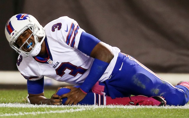 Bills quarterback EJ Manuel has a sprained right knee, according to coach Doug Marrone. (USATSI)