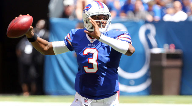 EJ Manuel will miss the remainder of the preseason with a knee injury.