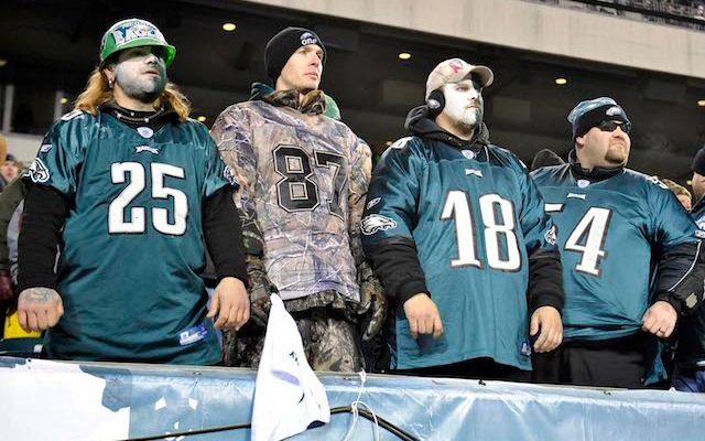 Eagles fans were not happy about being Drew Brees' first-ever road playoff win. (USATSI)