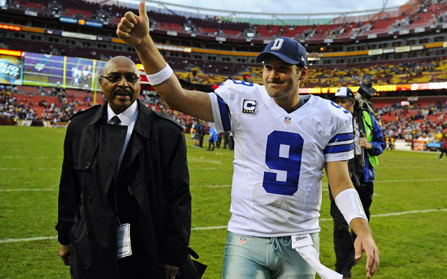Tony Romo's Cowboys will square off vs. the Eagles on Sunday night in Week 17.