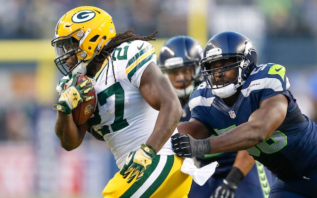 Eddie Lacy suffered a concussion in the fourth quarter agains Seattle. (USATSI)