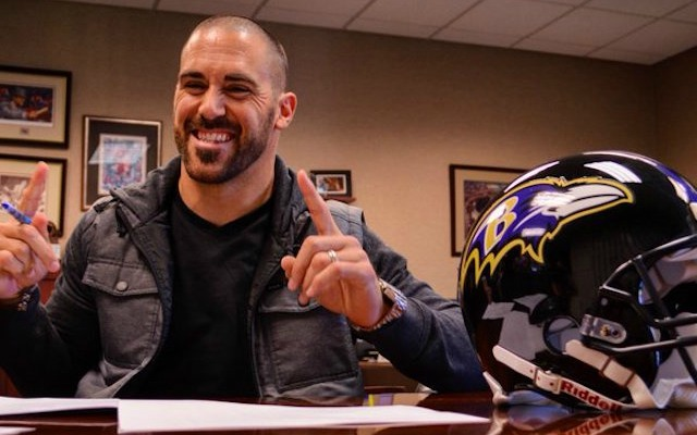 Eric Weddle is happy to be out of San Diego. (Twitter/@Ravens)