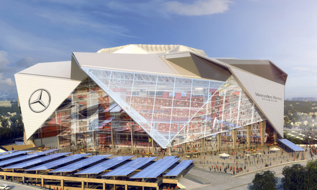 The Falcons new stadium might not get to host the NFL's biggest game. (Falcons.com)