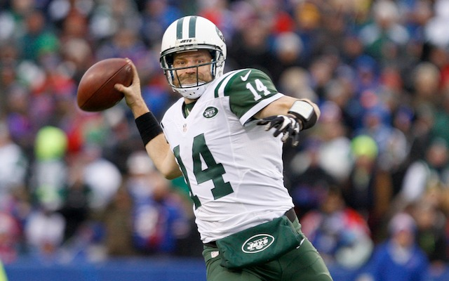 Ryan Fitzpatrick struggled in the fourth quarter against Buffalo. (USATSI)