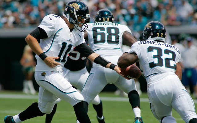 Maurice Jones-Drew and Blaine Gabbert could both miss Sunday's game in Seattle. (USATSI)