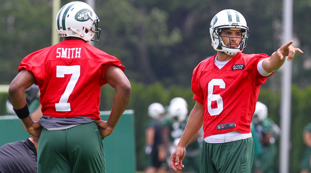 Geno Smith says he and Mark Sanchez are 'cool.'