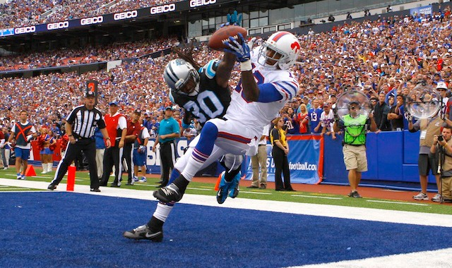 Charles Godfrey suffered a torn Achilles while breaking up in the end zone against the Bills. (USATSI)