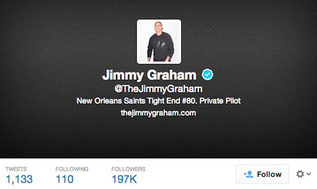 According to the NFL and his Twitter profile, Jimmy Graham is a tight end. (Twitter)