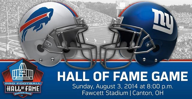 The Bills and Giants will meet in the HOF game for the first time. (Buffalo Bills Twitter feed)