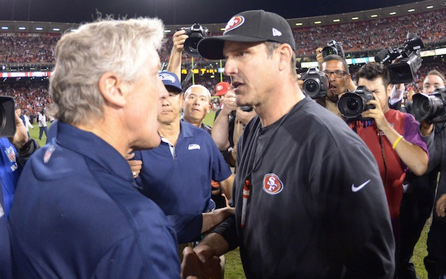 The postgame handshake alone could make the 49ers-Seahawks game worth paying $250 to see. (USATSI)