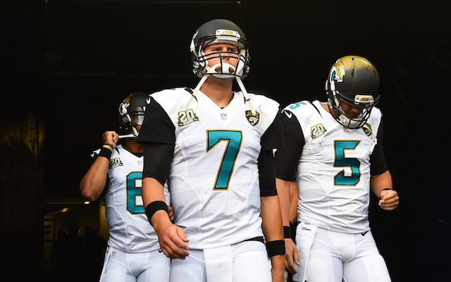 Chad Henne [7], not Blake Bortles [5], will be the Jaguars Week 1 starter. (USATSI)