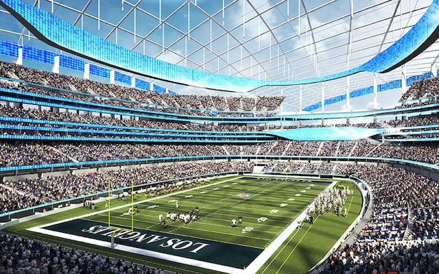 The Rams proposed stadium could host almost any NFL-related event. (HOK Network)