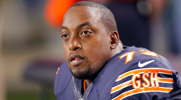 J'Marcus Webb was claimed off waivers by the Vikings Sunday.