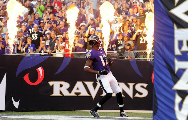 Jacoby Jones says he did not get into an altercation with a stripper named Sweet Pea. (USATSI)