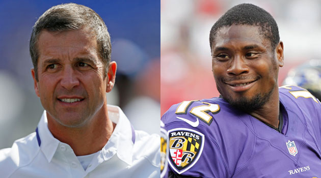 Sorry Jacoby Jones, John Harbaugh is not impressed.