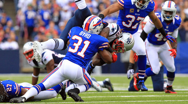 Jarius Byrd has 18 career interceptions with the Bills. (USATSI)