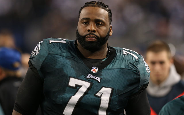 Jason Peters signed a five-year deal with the Eagles on Wednesday.