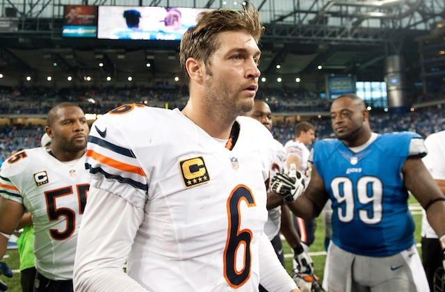 If you want to see Jay Cutler make this face in person, it will cost you at least $180. (USATSI)