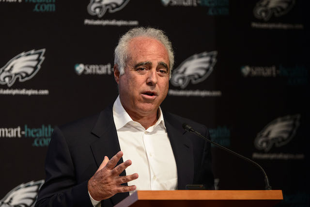 Eagles owner Jeffrey Lurie is trying to find a franchise quarterback. (USATSI)