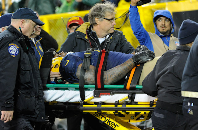 Jermichael Finley was carted off the field after being injured in Week 7. (USATSI)
