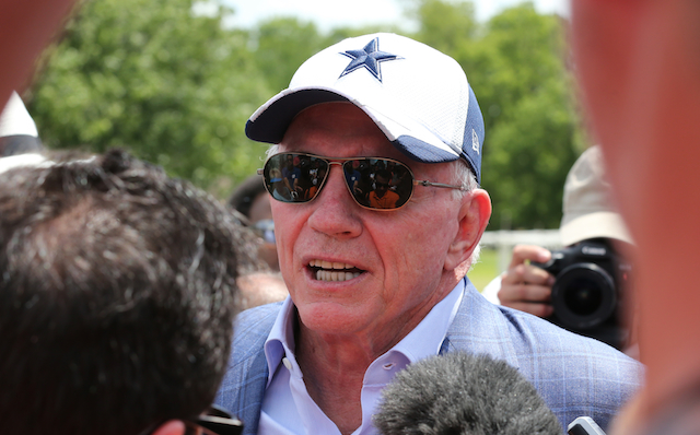 Jerry Jones blames the Seahawks for the uptick in penalties.