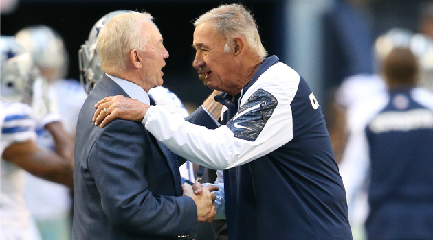 Jerry Jones is not happy with Monte Kiffin right now.