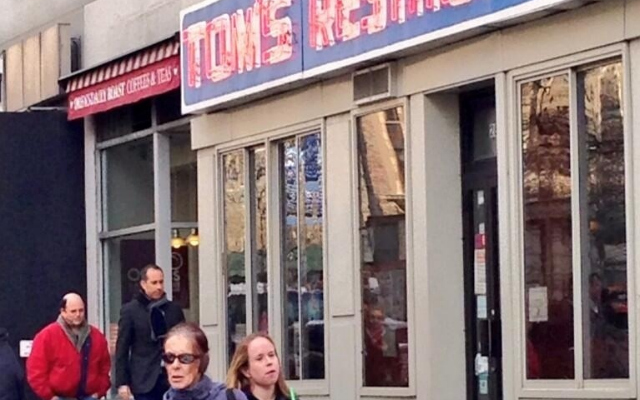 Jerry Seinfeld and 'George' were spotted at the famous diner.