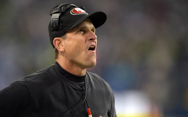 Jim Harbaugh says there's 'zero chance' he's leaving San Francisco before his contract is up. (USATSI)