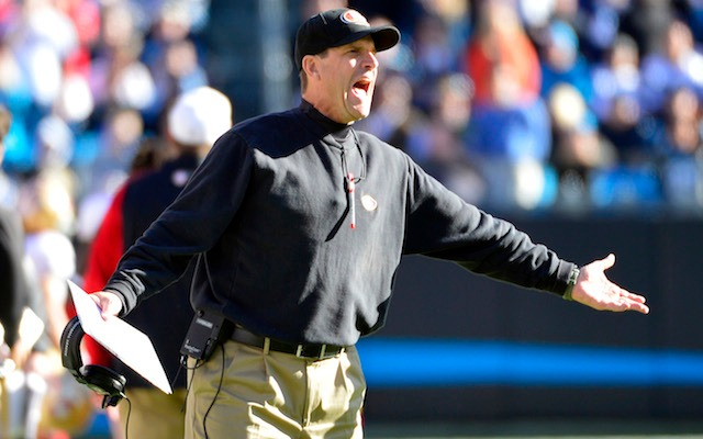 Jim Harbaugh gets upset over a lot of things, Seattle restricting ticket sales isn't one of them. (USATSI)