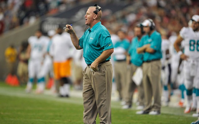 Dolphins offensive line coach Jim Turner was fired on Wednesday. (USATSI)