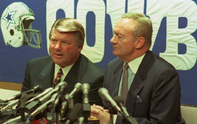 Jimmy Johnson and Jerry Jones the day they split ways.