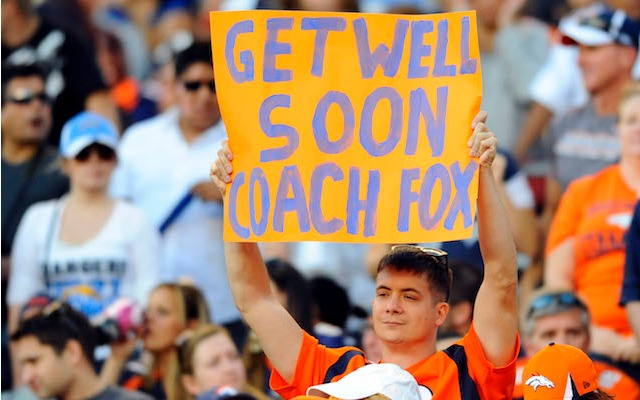 John Fox is getting better and has been cleared to travel to Denver. (USATSI)