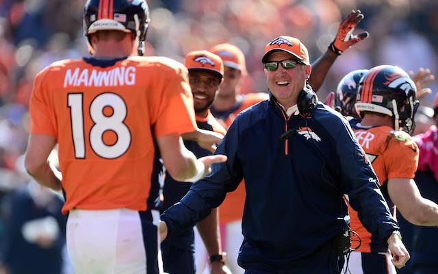 John Fox will coach the Broncos from the sideline on Sunday. (USATSI)