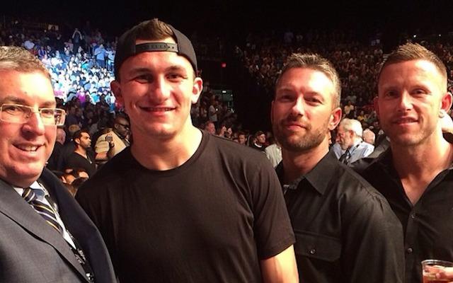 Johnny Manziel left Cleveland to attend a UFC fight in Las Vegas. (Instagram/ryandelucabbcom)