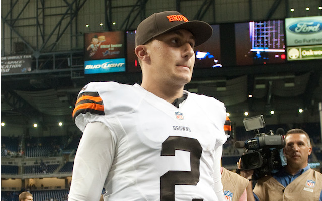 Johnny Manziel showed up a few minutes late for a team meeting on Monday. (USATSI)