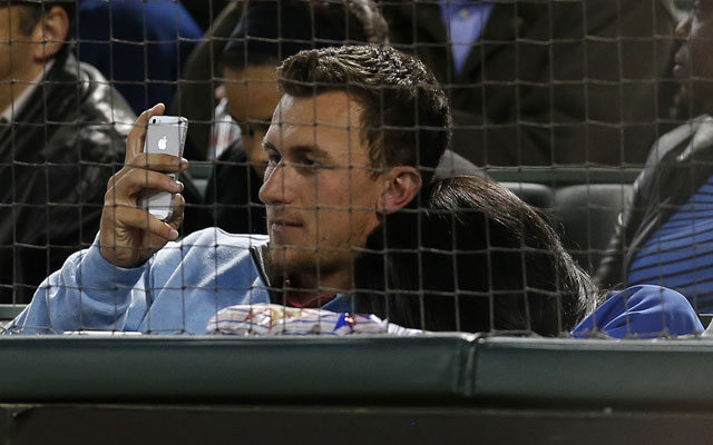 Johnny Manziel apparently went to a Rangers game with lady friend Kyndal Kyaire on Tuesday.