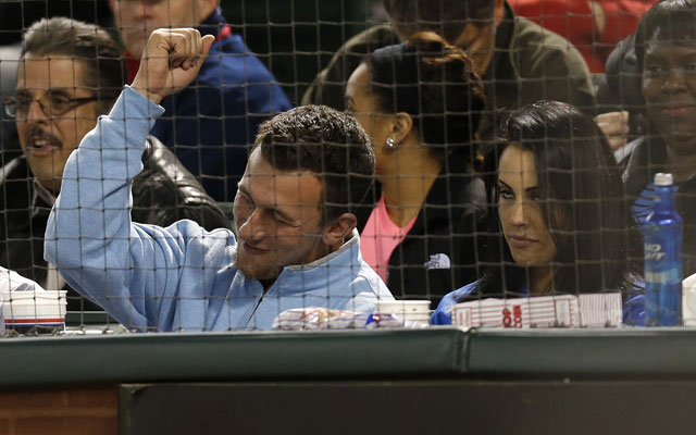 Johnny Manziel was spotted at a Rangers game Tuesday. But with who?